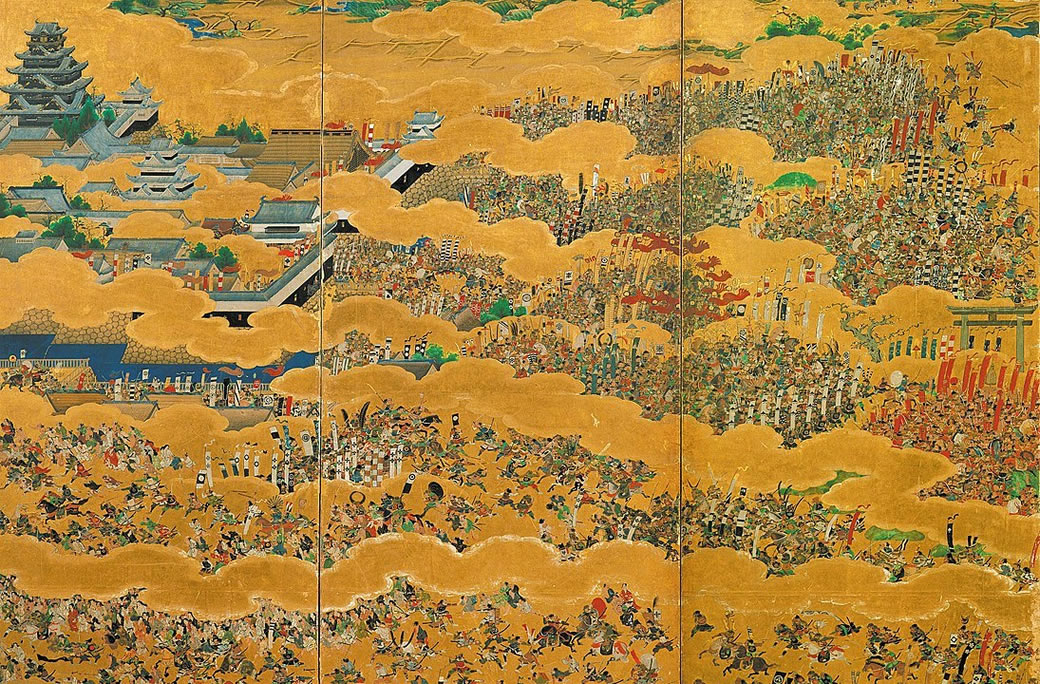 Folding screen depicting the Siege of Osaka